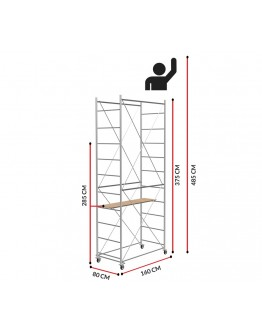 Scaffold Tower Fast (Working height 4,85m)