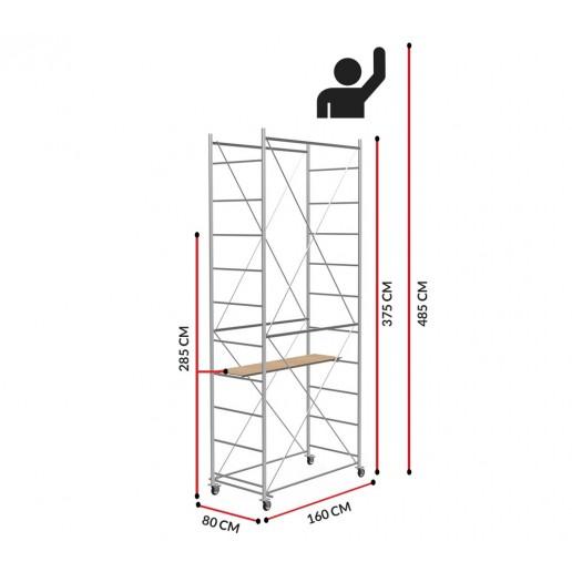 Échafaudage Fast (Hauteur de travail 4,85m)