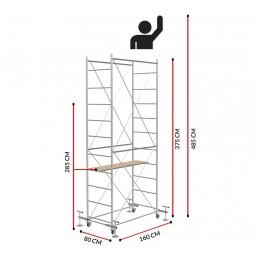 Andamio FAST con 4 Jack de nivelación(Altura de trabajo 4,85 m)