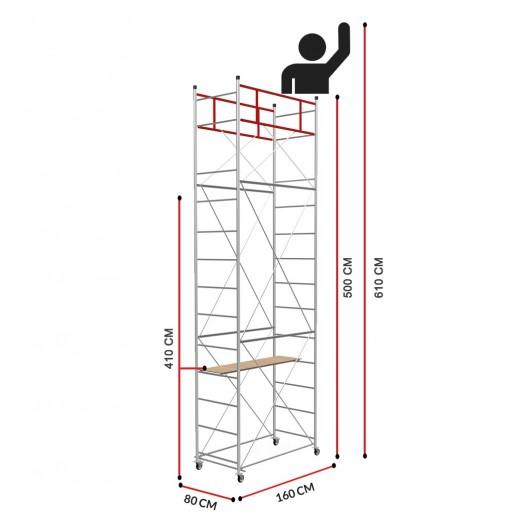 Échafaudage Fast (Hauteur de travail 6,10m)