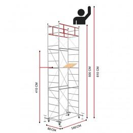 Andamio FAST con 4 Jack de nivelación(Altura de trabajo 6,10 m)