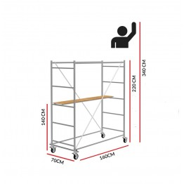 Scaffold Tower Hobby (Working Height 3,40 m)