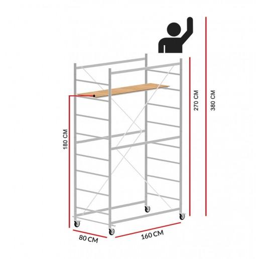 Rollgerüst JOLLY 160 (Arbeitshöhe 3,80 m)