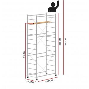 Andamio JOLLY 160 (Altura de trabajo 5,10 m)