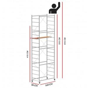 Andamio JOLLY 160 (Altura de trabajo 6,10 m)