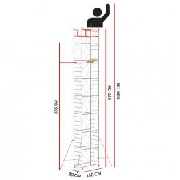Andamio M4 LUX (Altura de trabajo 10,85 m)