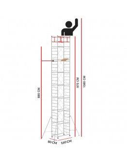 Scaffold Tower M4 LUX (Working Height 10,85 m)