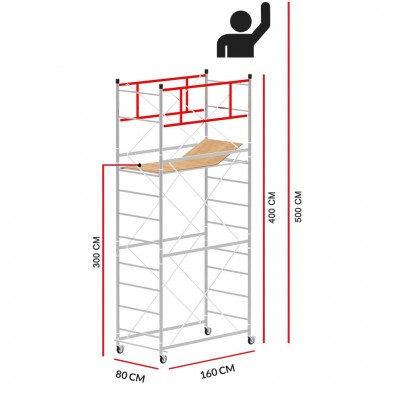 Scaffold Tower M4 LUX (Working Height 5 m)