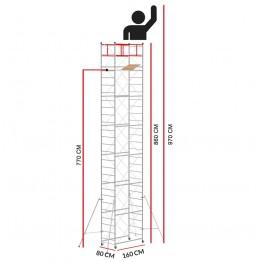 Andamio M4 LUX (Altura de trabajo 9,70 m)