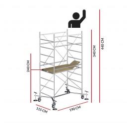 Andamio M5 EASY (Altura de trabajo 4,40 m)