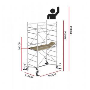 Échafaudage M5 EASY (Hauteur de travail 4,40 m)
