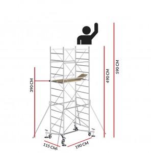 Échafaudage M5 EASY (Hauteur de travail 5,90 m)