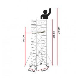Andamio M5 EASY (Altura de trabajo 7,40 m)