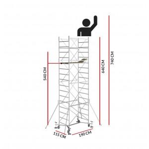 Échafaudage M5 EASY (Hauteur de travail 7,40 m)