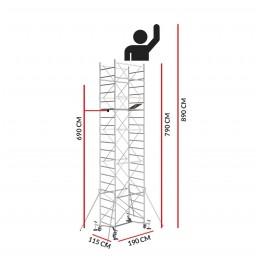 Andamio M5 EASY (Altura de trabajo 8,90 m)