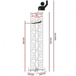 Andamio M5 ITALY (Altura de trabajo 10,35 m)