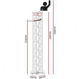Andamio M5 ITALY (Altura de trabajo 13,30 m)