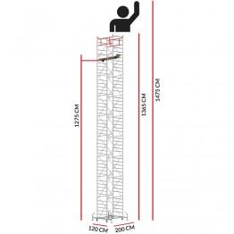 Andamio M5 ITALY (Altura de trabajo 14,75 m)