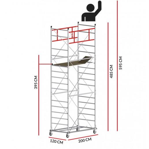 Rollgerüst M5 ITALY (Arbeitshöhe 5,95 m)