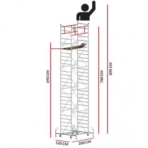Échafaudage M5 ITALY (Hauteur de travail 8,90 m)