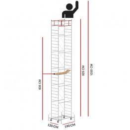 Andamio M5 LUX (Altura de trabajo 10,35 m)