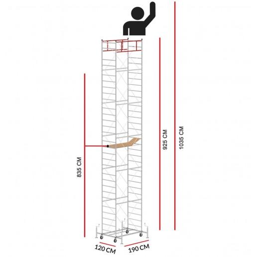 Rollgerüst M5 LUX (Arbeitshöhe 10,35 m)