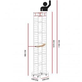 Andamio M5 LUX (Altura de trabajo 11,80 m)