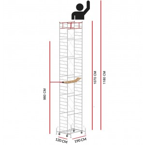 Scaffold Tower M5 LUX (Working Height 11,80 m)