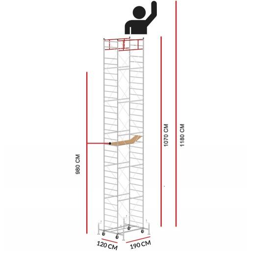 Rollgerüst M5 LUX (Arbeitshöhe 11,80 m)