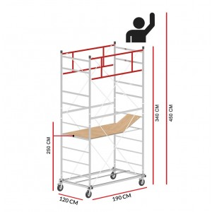 Scaffold Tower M5 LUX (Working Height 4,50 m)