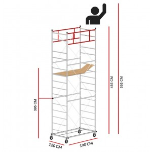 Scaffold Tower M5 LUX (Working Height 5,95 m)