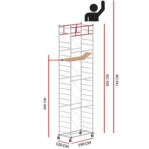 Rollgerüst M5 LUX (Arbeitshöhe 7,40 m)