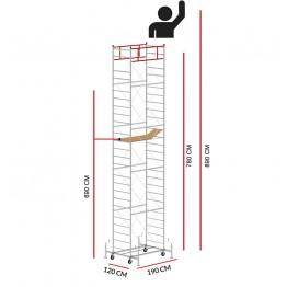 Andamio M5 LUX (Altura de trabajo 8,90 m)