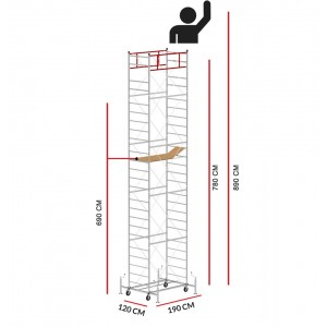 Scaffold Tower M5 LUX (Working Height 8,90 m)