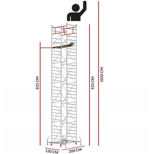 Andamio M5 SUPERLUX (Altura de trabajo 10,35 m)