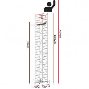 Andamio M5 SUPERLUX (Altura de trabajo 11,80 m)
