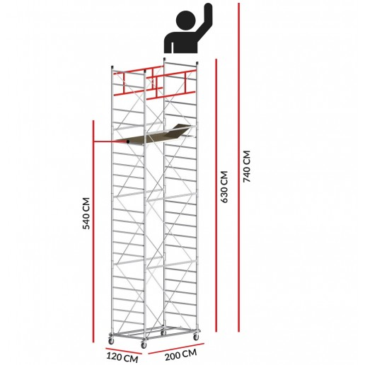 Scaffold Tower M5 SUPERLUX (Working Height 7,40 m)