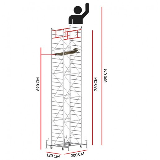 Scaffold Tower M5 SUPERLUX (Working Height 8,90 m)