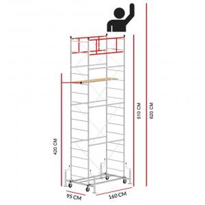 Andamio SCEDILUX (Altura de trabajo 6,20 m)