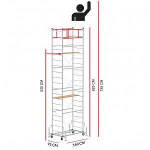 Andamio SCEDILUX (Altura de trabajo 7,35 m)