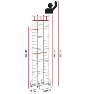 Andamio SCEDILUX (Altura de trabajo 8,50 m)