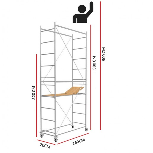 Scaffold Tower SuperHobby (Working Height 5m)
