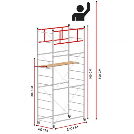 Scaffold Tower TERNO-1 (Working height 5 m)