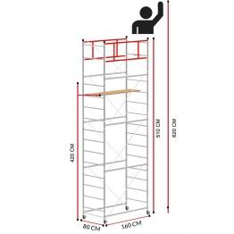 Andamio TERNO-1 (Altura de trabajo 6,20 m)