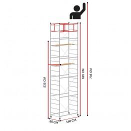 Andamio TERNO-1 (Altura de trabajo 7,35 m)