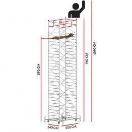 Andamio TITANIUM PRO (Altura de trabajo 10,90 m)