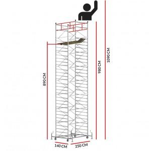 Scaffold Tower TITANIUM PRO (Working Height 10,90 m)