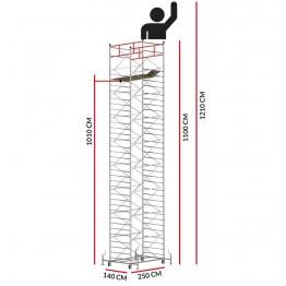 Andamio TITANIUM PRO (Altura de trabajo 12,10 m)