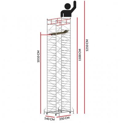 Scaffold Tower TITANIUM PRO (Working Height 12,10 m)