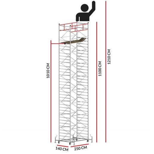 Échafaudage TITANIUM PRO (Hauteur de travail 12,10 m)